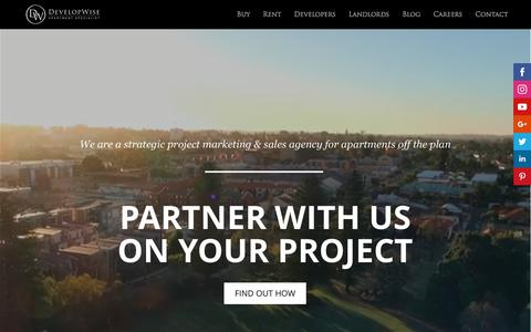 Screenshot of Developers Page developwise.com.au - DevelopWise - Project Marketing for Apartment Developers - captured June 4, 2017