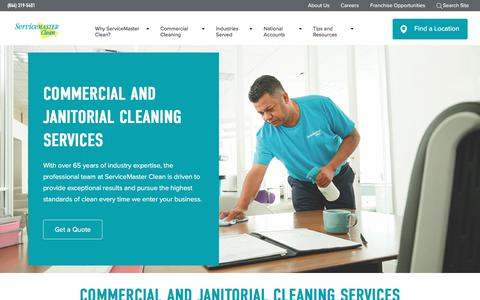 Screenshot of Home Page servicemasterclean.com - Professional Commercial Cleaning Service | ServiceMaster Clean - captured Aug. 17, 2019