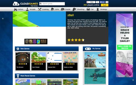 Screenshot of Home Page cloudgames.com - Play Flash Games on Cloud Games - captured Sept. 18, 2015