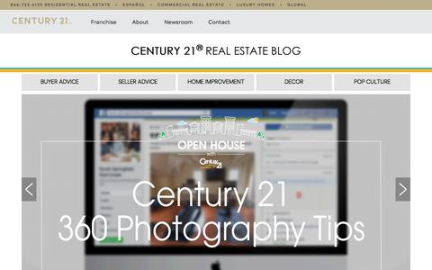 Screenshot of Blog century21.com - Century 21® – Real Estate Blog - captured June 6, 2018