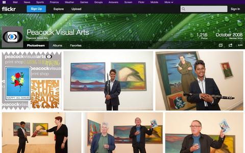Screenshot of Flickr Page flickr.com - Flickr: Peacock Visual Arts' Photostream - captured Oct. 28, 2014