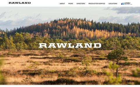 Screenshot of Home Page About Page Locations Page rawland.fi - Rawland - captured Oct. 9, 2014