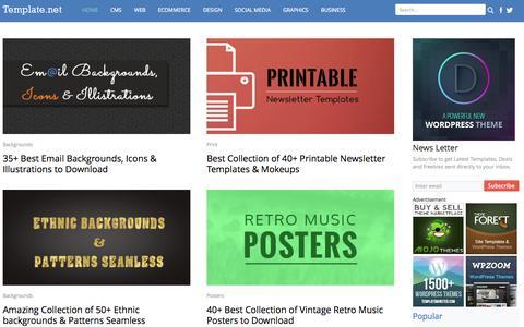 Screenshot of Home Page template.net - Website Templates, Free Design Resource - captured Sept. 19, 2014