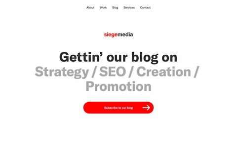 Siege Media's Content Marketing Blog