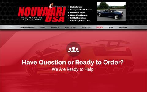 Screenshot of Contact Page nouvalari-usa.com - Contact Nouvalari-USA - captured June 15, 2017