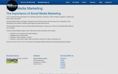 Social Media Marketing | Nevada Website Design Las Vegas NV | SEO