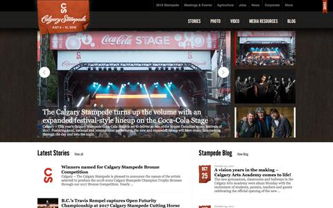 Screenshot of Press Page calgarystampede.com - Newsroom | Calgary Stampede - captured Oct. 28, 2017