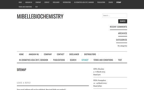 Sitemap – Mibellebiochemistry