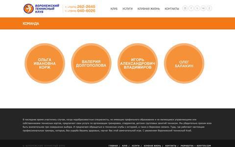 Screenshot of Team Page tcvrn.ru - КОМАНДА | Воронежский теннисный клуб - captured Oct. 27, 2018