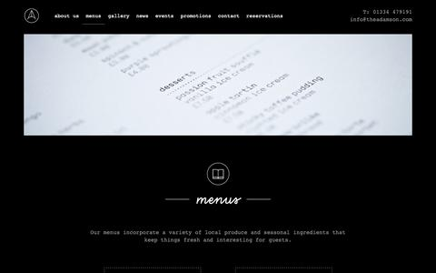 Screenshot of Menu Page theadamson.com - Menus – The Adamson - captured Nov. 28, 2018