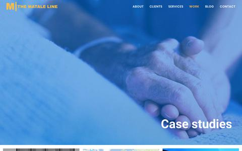 Screenshot of Case Studies Page mataleline.com - Case studies | The Matale Line - captured Sept. 21, 2018