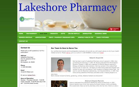 Screenshot of Team Page lakeshorepharmacy.com - Lakeshore Pharmacy - Our Team - captured Dec. 6, 2015