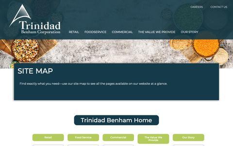 Screenshot of Site Map Page trinidadbenham.com - Site Map - Trinidad Benham Corporation - captured Oct. 20, 2018