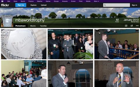 Screenshot of Flickr Page flickr.com - Flickr: mbaworldtrophy's Photostream - captured Oct. 23, 2014
