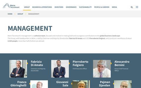 Screenshot of Team Page mairetecnimont.com - Our Management | Maire Tecnimont - captured Oct. 24, 2018