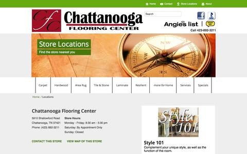 Screenshot of Locations Page chattanoogaflooringcenter.com - Locations | CHATTANOOGA FLOORING CENTER | CHATTANOOGA, TN - captured Dec. 8, 2015