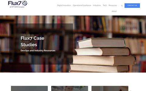 Screenshot of Case Studies Page flux7.com - Case Studies - AWS & DevOps Consulting Services   Flux7 - Flux7 - captured Jan. 24, 2020