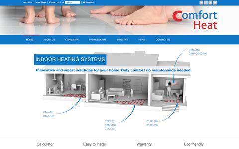 Screenshot of Home Page comfortheat.eu - Comfort Heat   Heating Systems - captured Dec. 10, 2015