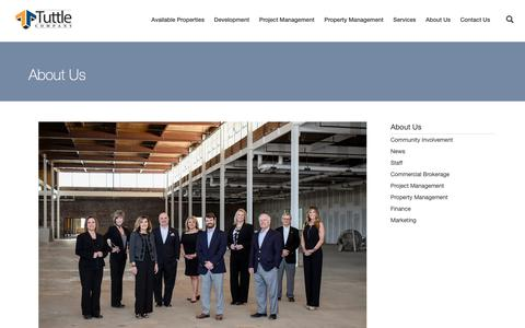 Screenshot of About Page tuttleco.com - About Us - The Tuttle CompanyThe Tuttle Company - captured Oct. 18, 2018