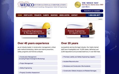 Screenshot of Home Page wexco.net - WEXCO - captured Oct. 6, 2014