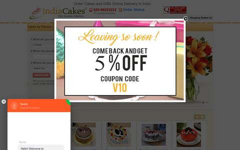 Screenshot of Home Page indiacakes.com - Buy Cakes Online, Cake Shop, Flowers, Gifts Delivery in India - captured Dec. 9, 2018