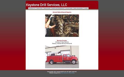 Screenshot of Services Page keystonedrill.com - KeystoneDrill.com - captured Oct. 6, 2014