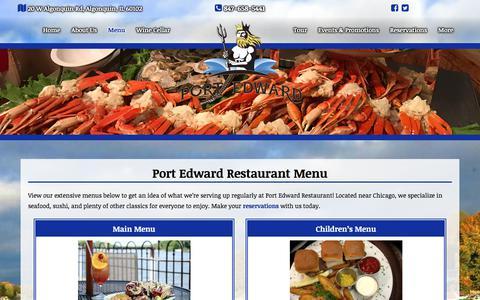 Screenshot of Menu Page portedward.com - Port Edward Restaurant Menu | Sushi | Chicago Seafood Restaurant - captured Aug. 7, 2017