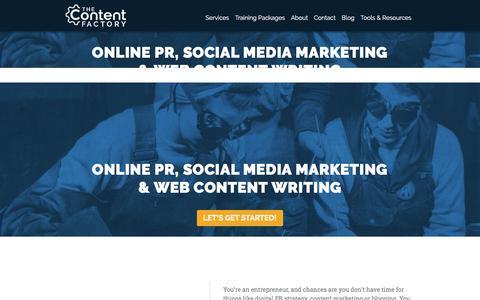 The Content Factory – Digital PR, Content Writing, SEO & Social Media