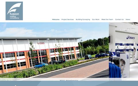 Screenshot of Home Page fusionbc.co.uk - Fusion   Fusion - captured Feb. 10, 2016
