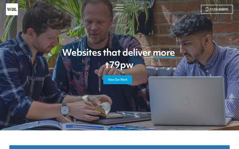 Screenshot of Home Page websitedesign.co.uk - Website Design Ltd | Web Design & Digital Marketing in Colchester - captured Aug. 13, 2019