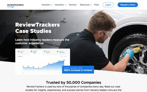 Screenshot of Case Studies Page reviewtrackers.com - ReviewTrackers Case Studies | ReviewTrackers - captured Jan. 15, 2020
