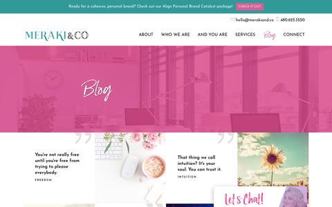 Screenshot of Blog merakiand.co - Blog | Meraki and Co. - captured Nov. 5, 2018