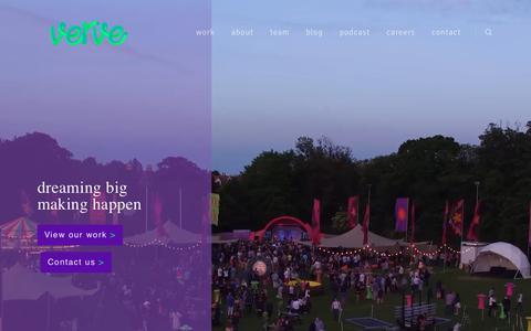 Screenshot of Home Page verve.ie - Verve | dreaming big - making happen - Dublin - captured Oct. 20, 2018