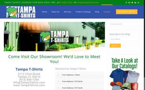 Screenshot of Contact Page tampatshirts.com - Tampa T-Shirts Contact - captured June 19, 2017