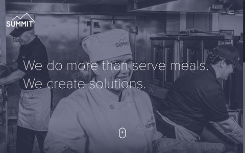 Screenshot of Home Page summitfoodservice.com - Summit | Food That Drives Positive Behavior - captured Nov. 10, 2017