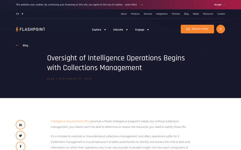 Screenshot of Team Page flashpoint-intel.com - Flashpoint - Oversight of Intelligence Operations Begins with Collections Management - captured Nov. 12, 2019
