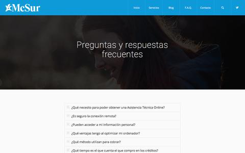 Screenshot of FAQ Page mcsur.com - Preguntas frecuentes McSur - Reparación Iphone Málaga - captured Oct. 4, 2017