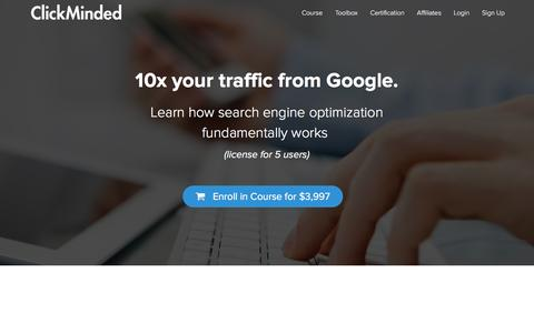 Screenshot of clickminded.com - The ClickMinded SEO Training Course (5 Users) | ClickMinded - captured March 20, 2016