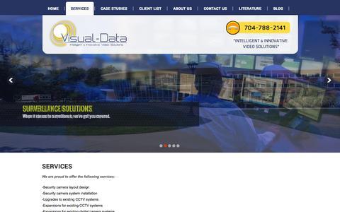 Screenshot of Services Page visual-data.com - Visual Data - captured Oct. 10, 2014
