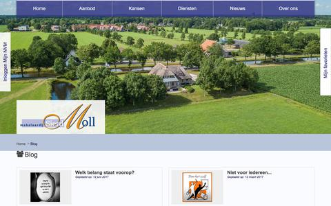 Screenshot of Blog sierdmoll.nl - Blog - Makelaardij Sierd Moll B.V. - captured Oct. 5, 2017
