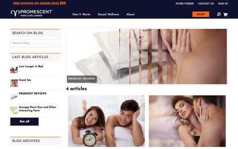 Screenshot of Blog promescent.com - Blog | Promescent - captured Oct. 7, 2017