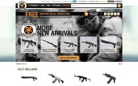 Screenshot of Home Page airsoftmegastore.com - The Most Trusted Website To Buy Airsoft Guns Online | Airsoft Megastore - captured Sept. 19, 2014
