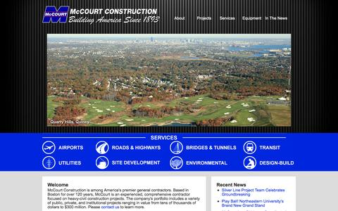 Screenshot of Home Page mccourtconstruction.com - McCourt Construction - captured Feb. 12, 2016