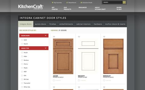 Screenshot of Products Page kitchencraft.com - Cabinet Door Styles - Integra - Kitchen Craft - captured Sept. 20, 2018