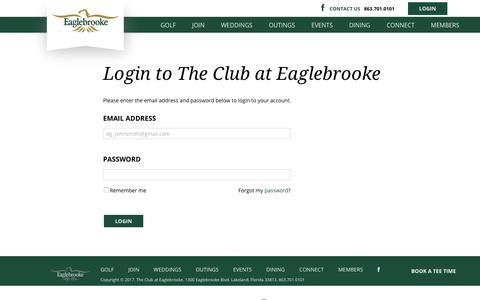 Screenshot of Login Page eaglebrooke.com - Login Page - captured Oct. 22, 2017