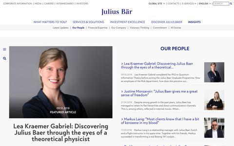 Screenshot of Team Page juliusbaer.com - Insights - captured Oct. 16, 2018