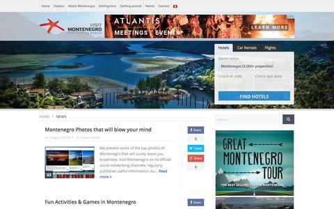 Screenshot of Press Page visit-montenegro.com - News   Visit Montenegro - captured Aug. 31, 2017