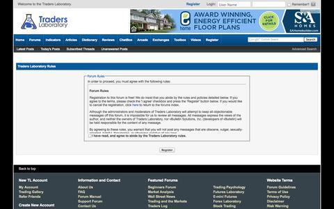 Screenshot of FAQ Page traderslaboratory.com - Traders Laboratory - Forum Rules - captured Oct. 26, 2014