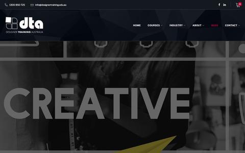 Screenshot of Blog designertraining.edu.au - Blog – Designer Training Australia - captured Aug. 6, 2018