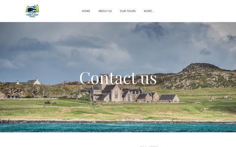 Screenshot of Contact Page heartlandtravel.co.uk - Contact us  - Heartland Travel - Tours of Scotland - captured July 18, 2018